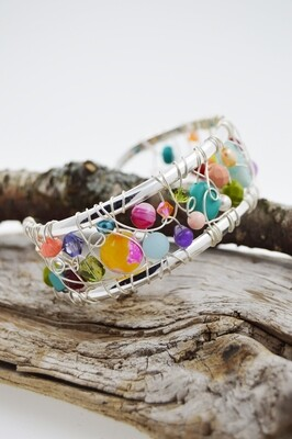 Signature Wire Woven Cuff Bracelet - Medium (4 colour choices)