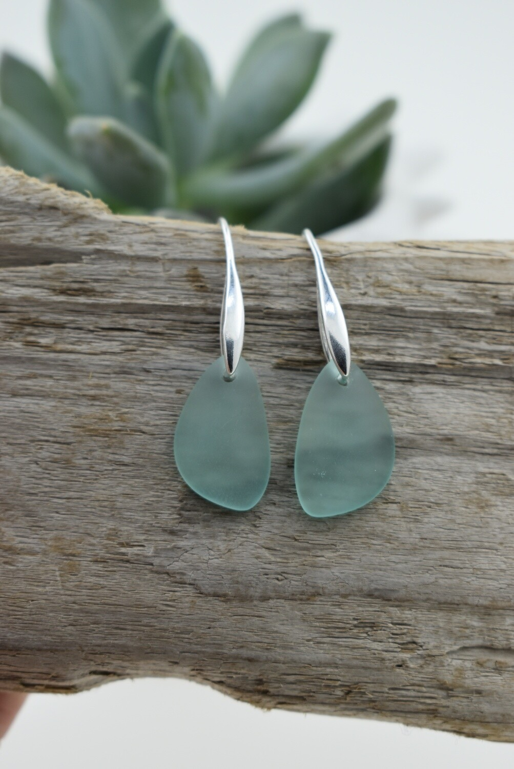Modern Seaglass Earrings