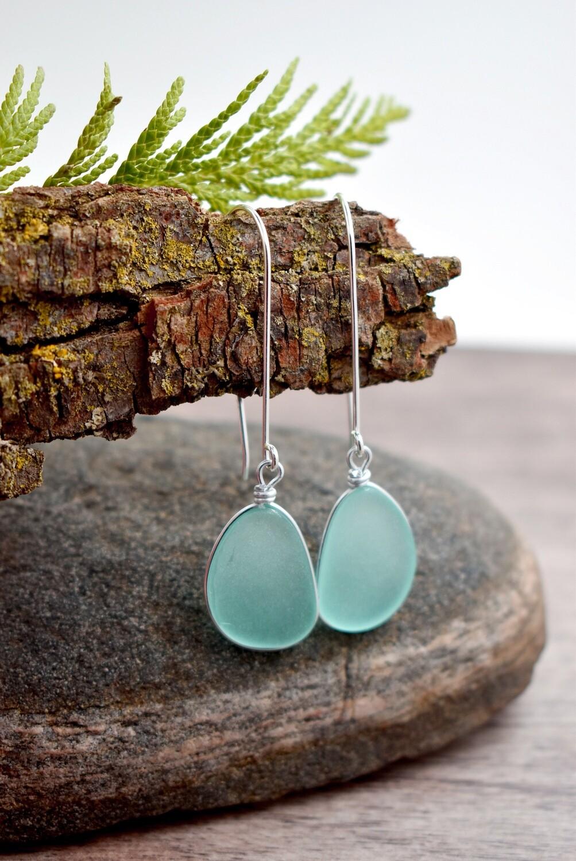 Sterling Silver Seaglass Earrings
