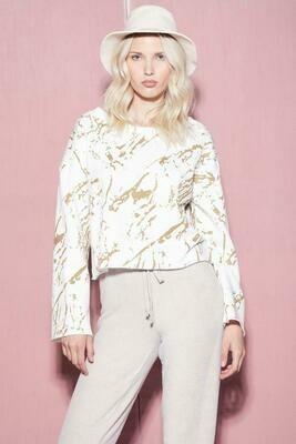 Gold Marble Sweatshirt