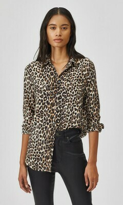 Leo print blouse