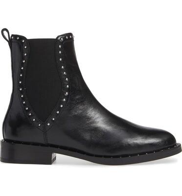Leather Stud Boot