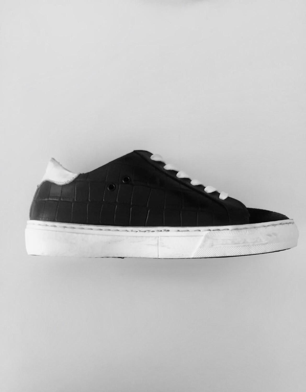 Black Reptile Sneaker