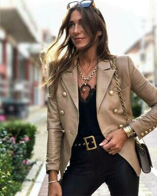 Leather BF Blazer