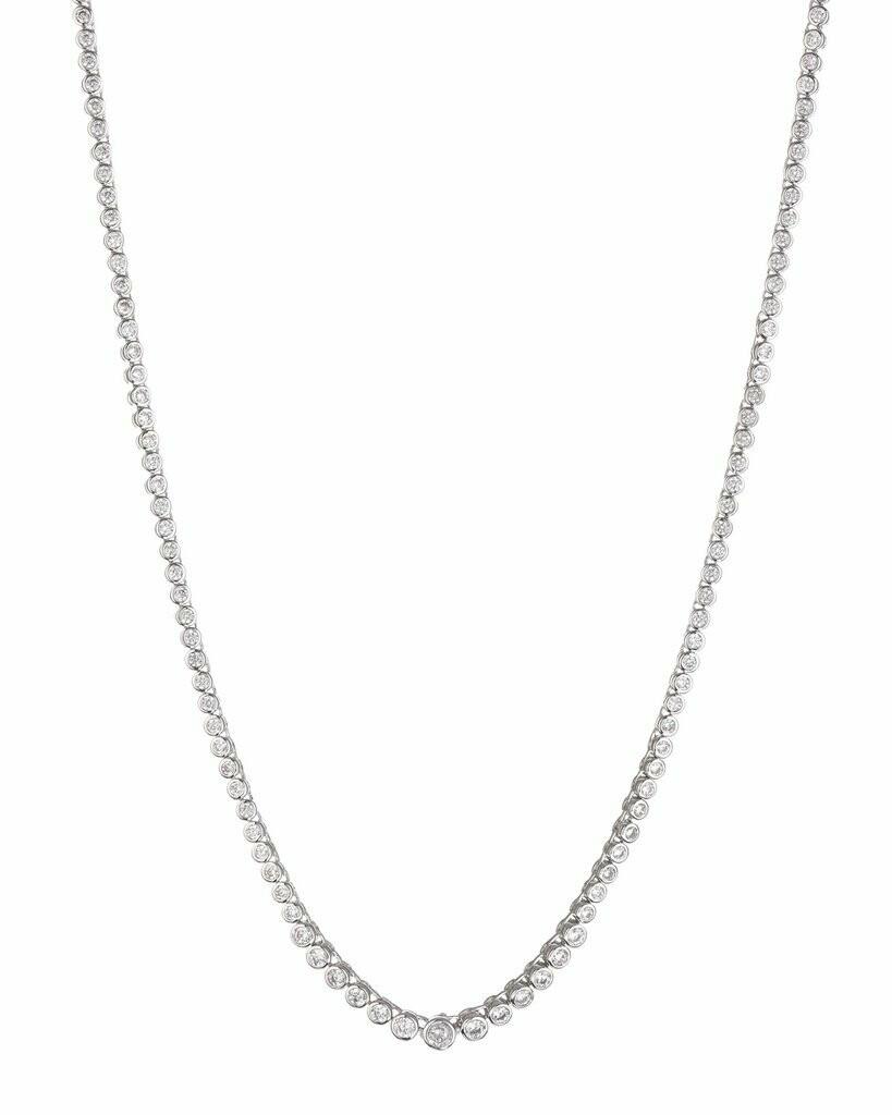 Silver Bezel Necklace
