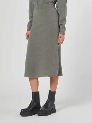 Dusty Wool Skirt