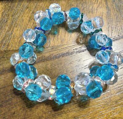 Crystal blue Clusters by Valerie Venee