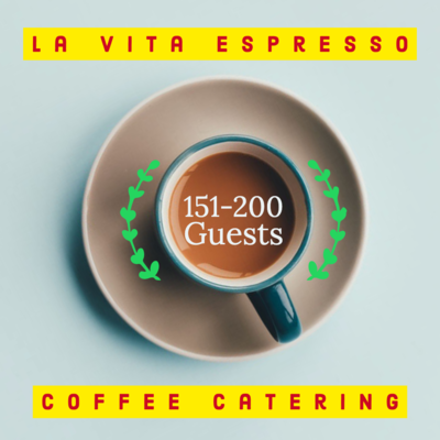 Coffee Catering 151-200 Guests