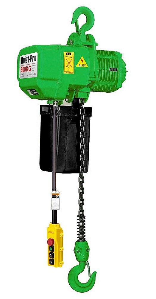 500KG HOIST PRO 1 SPEED / 1 FALL / 380V WITH TROLLEY