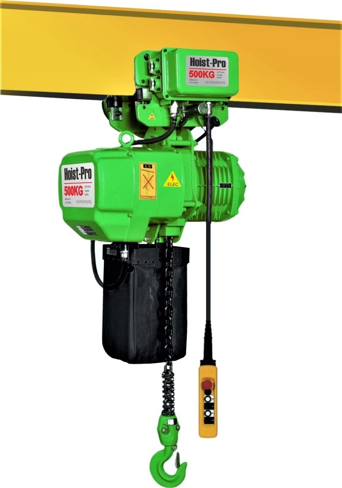 500Kg HOIST PRO 1 SPEED / 1 FALL / 380V WITH ELECTRIC TROLLEY