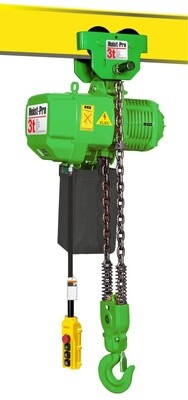 3000KG HOIST PRO 1 SPEED / 2 FALL / 380V WITH MANUAL TROLLEY
