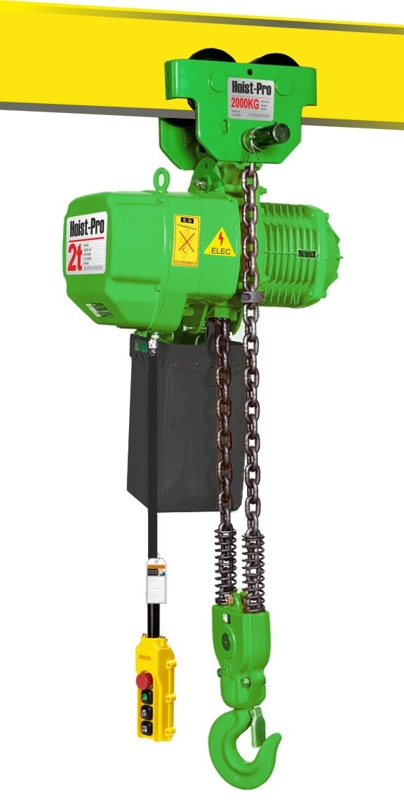 2000KG HOIST PRO 1 SPEED / 2 FALL / 380V WITH MANUAL TROLLEY