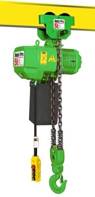 5000KG HOIST PRO 1 SPEED / 1 FALL / 380V WITH MANUAL TROLLEY
