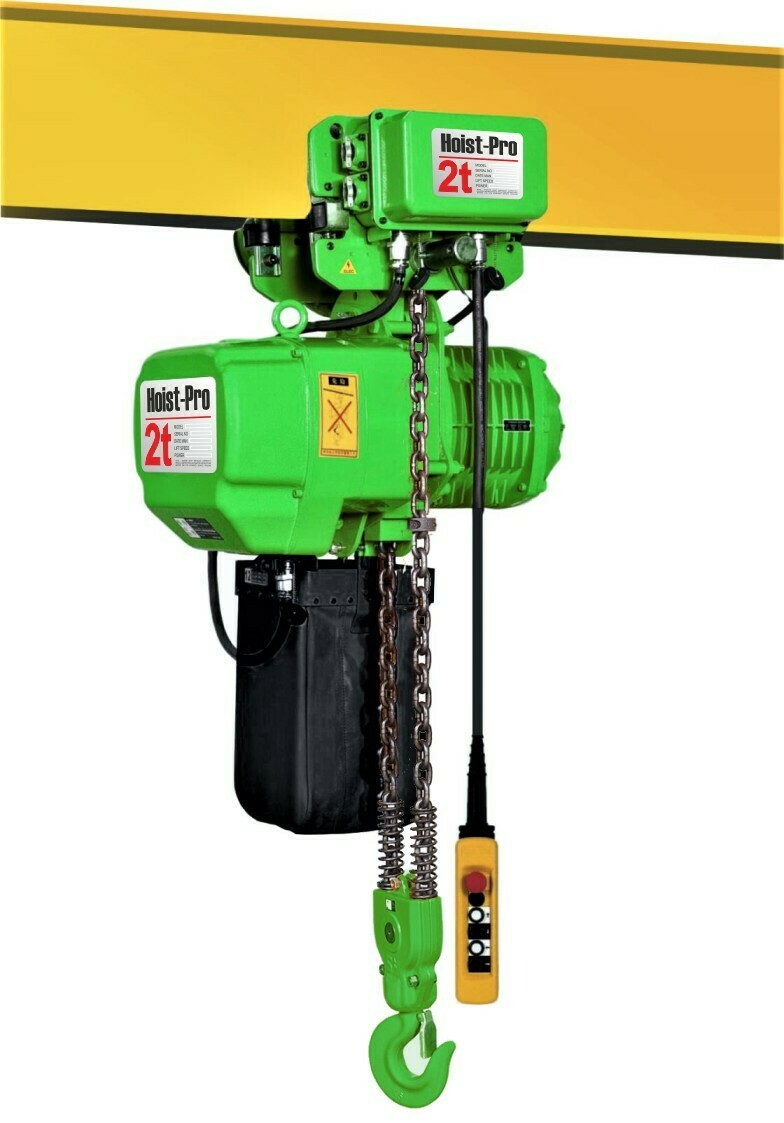 2000Kg HOIST PRO 1 SPEED / 2 FALL / 380V WITH ELECTRIC TROLLEY