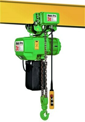 3000Kg HOIST PRO 1 SPEED / 2 FALL / 380V WITH ELECTRIC TROLLEY