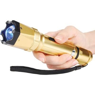 Gold Led Flashlight Stun Gun