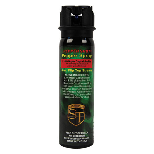 4 oz 1.2% MC pepper spray flip top model