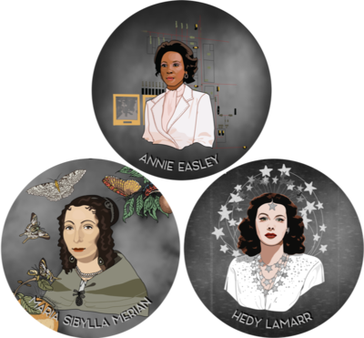 3 Historic Women in Science Stickers (Pick any three!)
