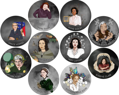 1 Women in Science Sticker (pick any 1)!