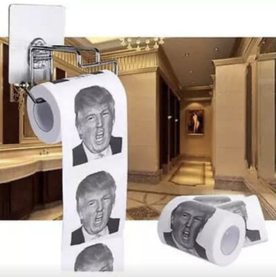 Hot Donald Trump $100 TP Bill Toilet Paper Roll
