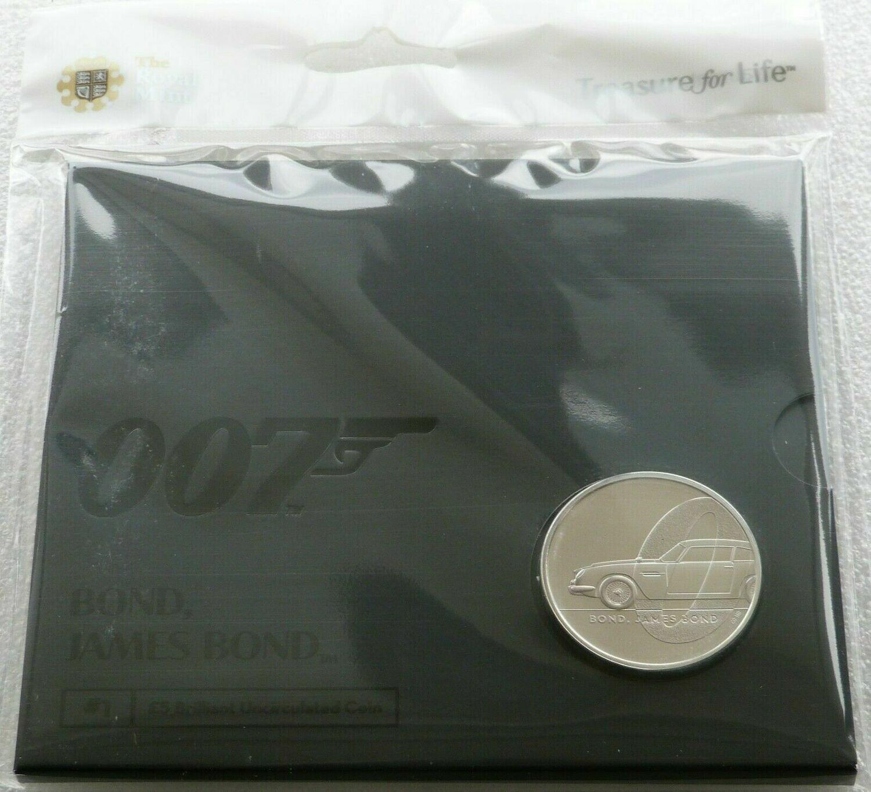 3 Coin Series 2020 James Bond UK £5 Brilliant Uncirculated