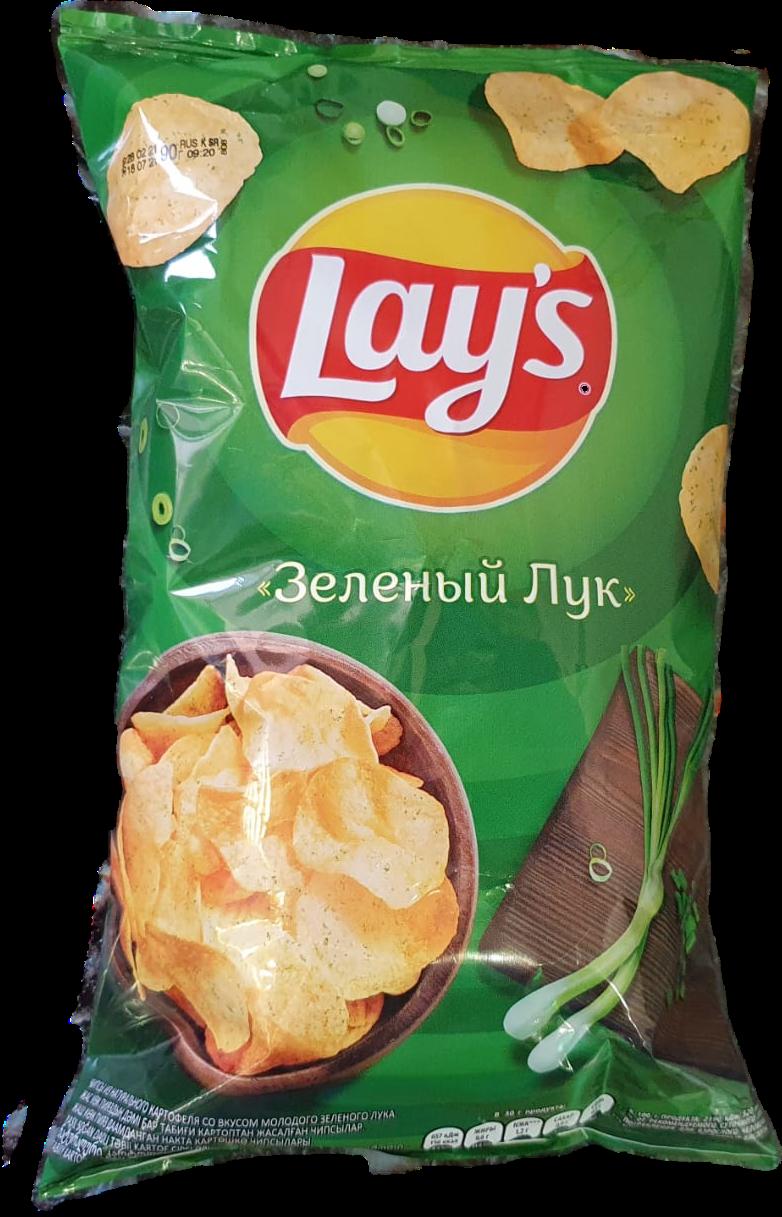 Чипсы Lay's зелёный лук