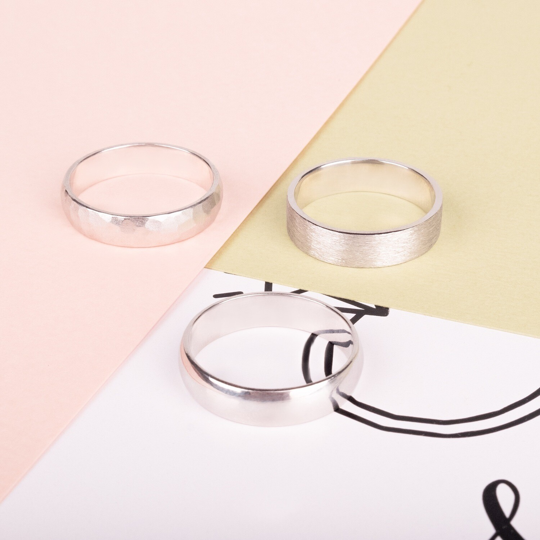 Разные фактуры металла, 1 кольцо