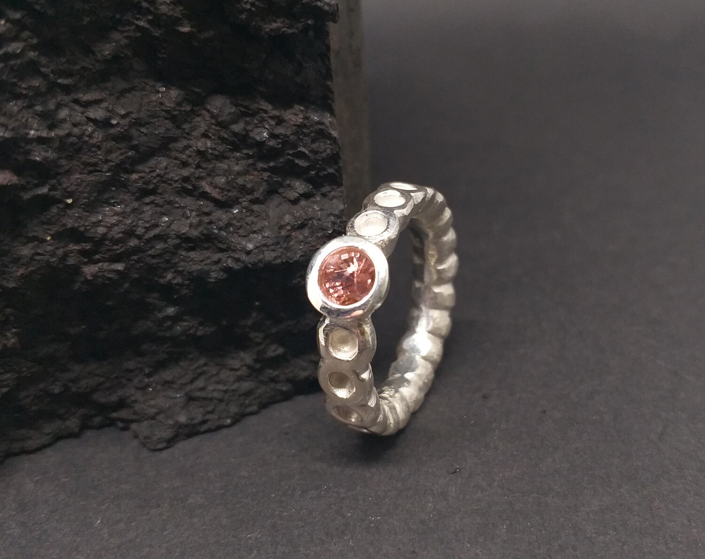 Silberring mit rosa Turmalin