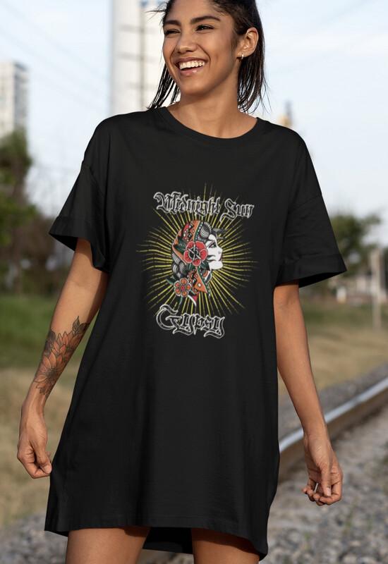 Midnight Sun Gypsy T-shirt Dress