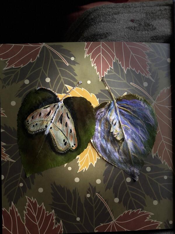 Hand Painted Leaf