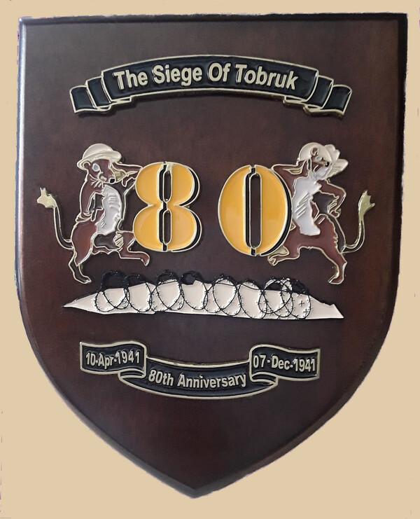 80TH ANNIVERSARY RATS OF TOBRUK WALL PLAQUE (members)