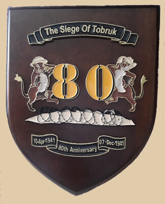 80TH ANNIVERSARY RATS OF TOBRUK WALL PLAQUE (members)