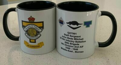 RECORD OF SERVICE MEMORIAL COFFEE MUGS