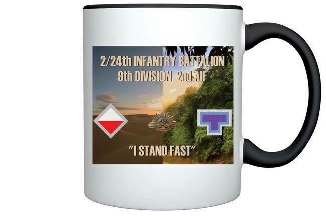 2/24th BATALION RECORD OF SERVICE MEMORIAL COFFEE MUGS