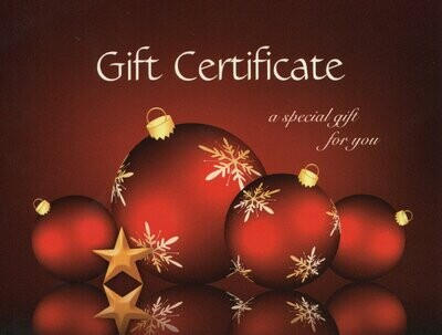 Gift Certificate from £65