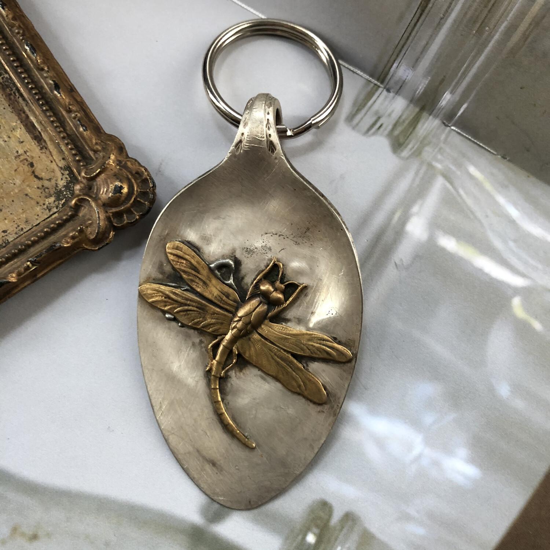 Dragonfly Rustic Keychain/charm