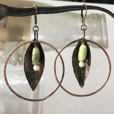 Copper Spring Hoops