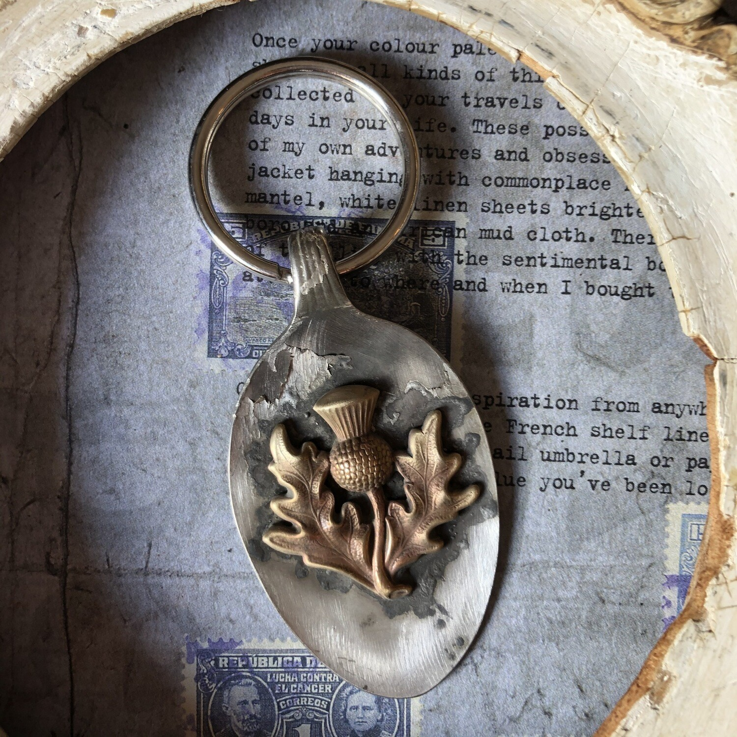 Celtic Thistle Key Fob