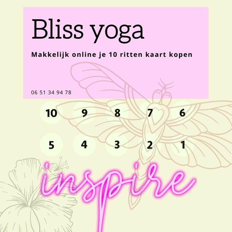 Bliss Yoga 10 rittenkaart