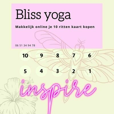 Bliss Yoga 10 rittenkaart