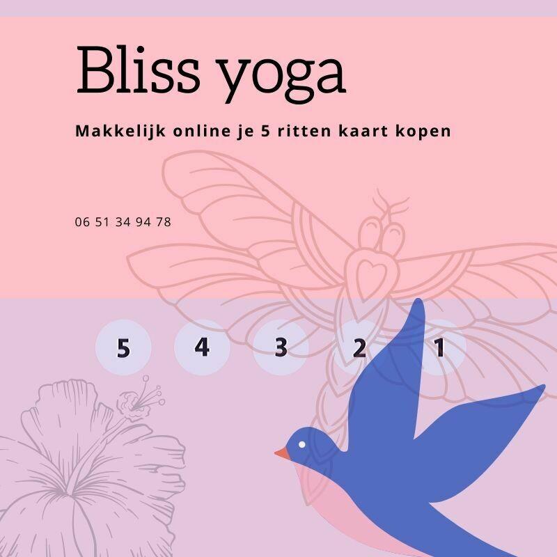 Bliss Yoga 5 rittenkaart