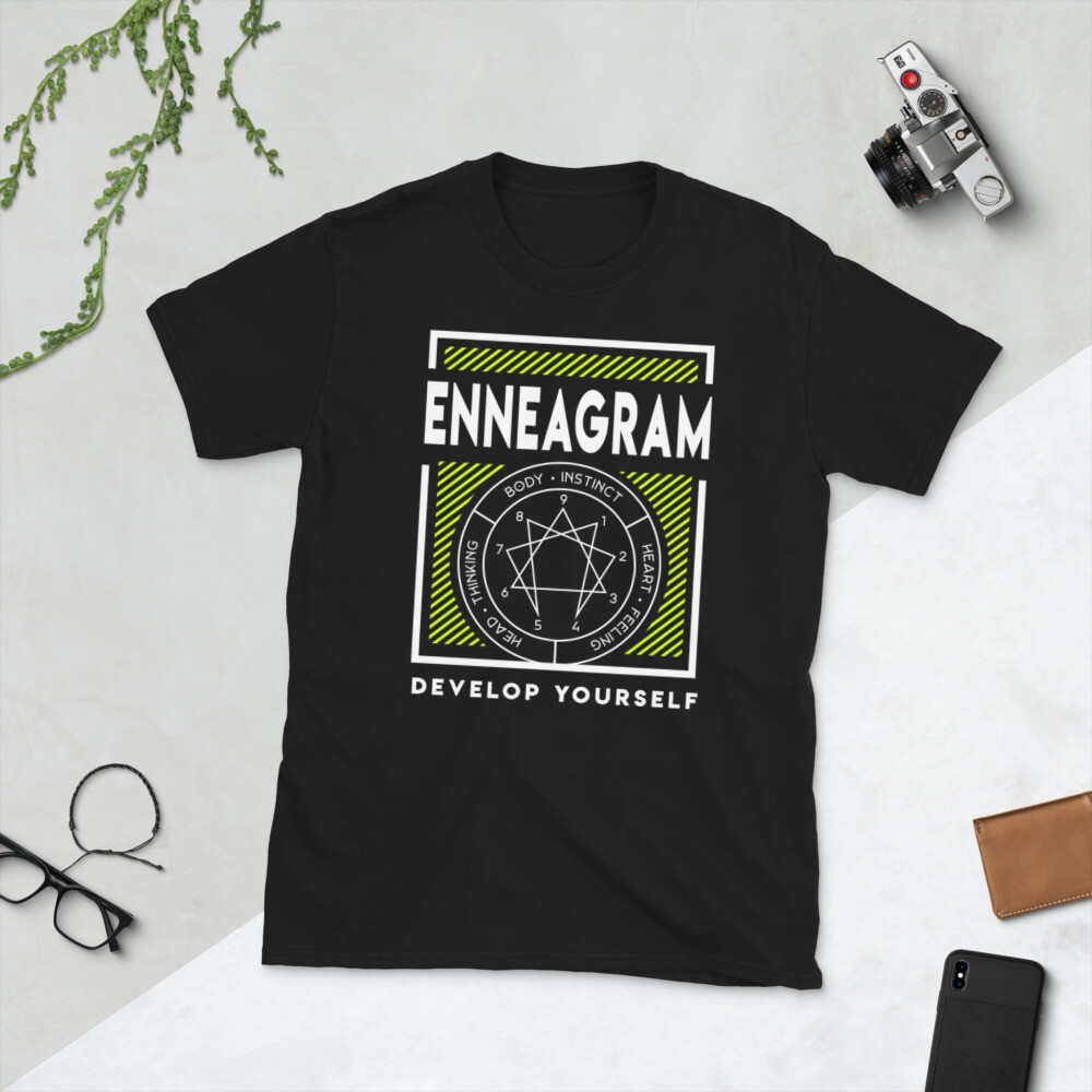 Enneagram Highlighter and White Short-Sleeve Unisex T-Shirt