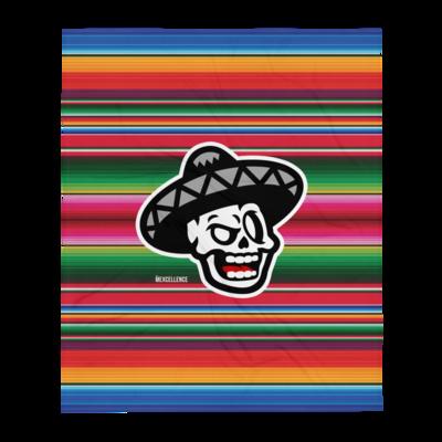 The Mexcellence Logo Serape Throw Blanket