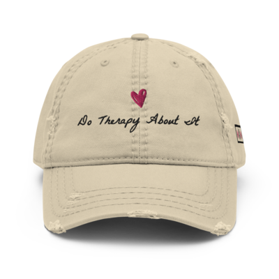 Do Therapy About It Distressed Dad Hat