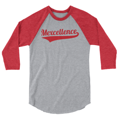 The Mexcellence Baseball Unisex 3/4 Sleeve Raglan Shirt