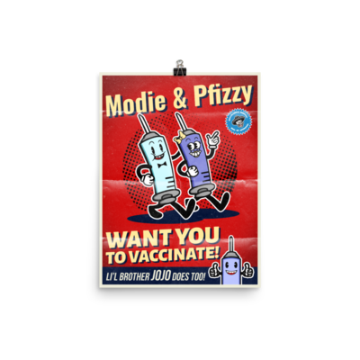 Modie and Pfizzy 12x16 Poster