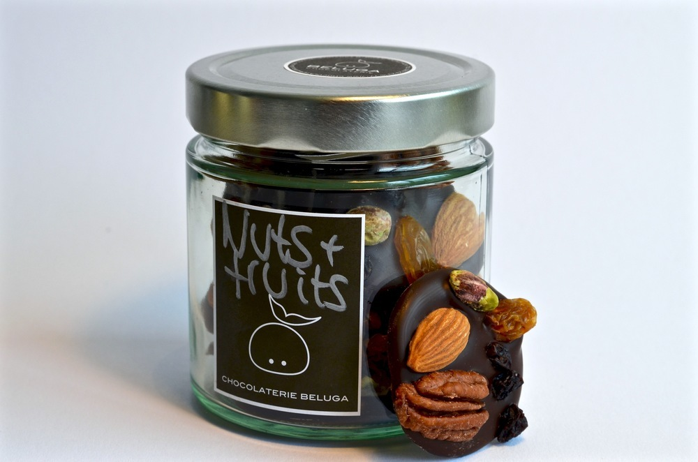 Glass Mendiants - Nuts & Fruits Dark