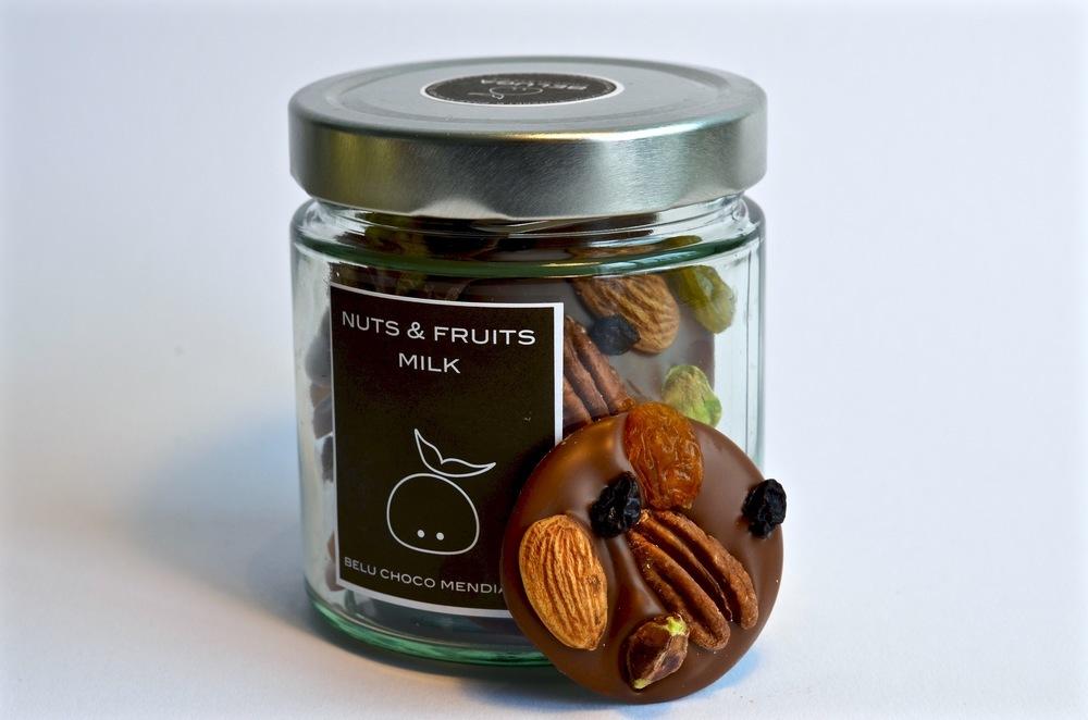Glass Mendiants - Nuts & Fruits Milk