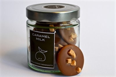 Glass Mendiants Caramel Milk