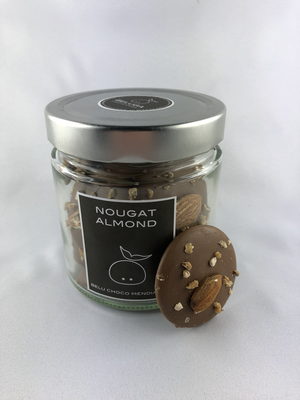 Glass Mendiants Nougat Almond Milk